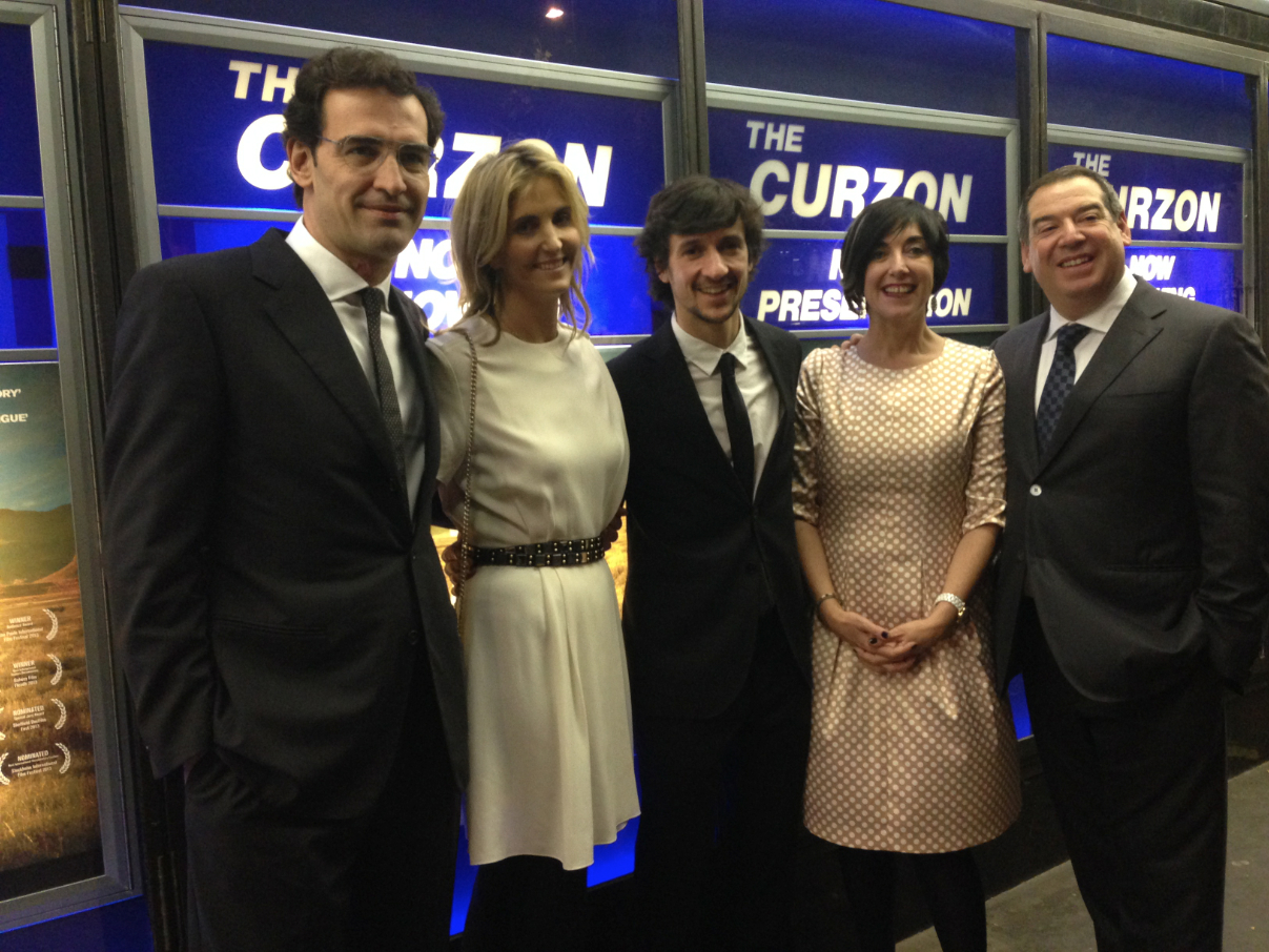 Enrique Gonzalez, Josie Lindop, Carlos Agullo , Mandy Jacobson and Ivor Ichikowitz at the London Premiere